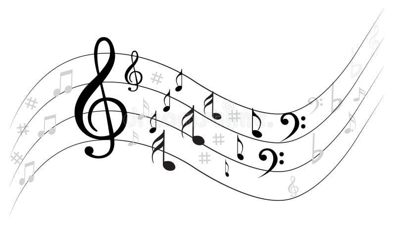 Musikanmärkning Backgraund vektor illustrationer