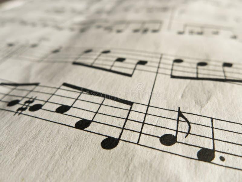 musikanmärkningar royaltyfria foton