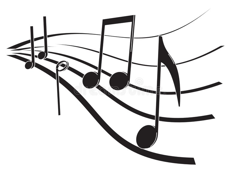 musikanmärkningar stock illustrationer