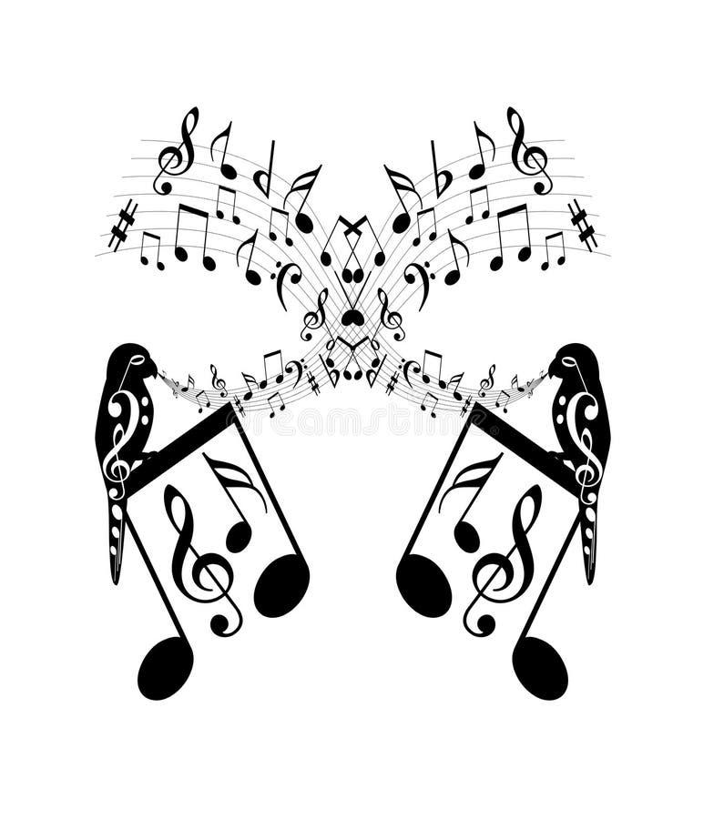 musikanmärkningar vektor illustrationer