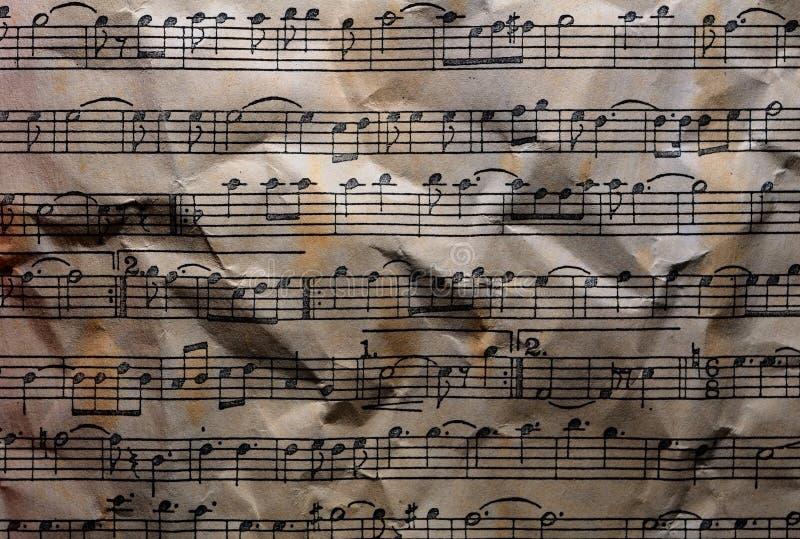 Musikanmärkningar texturerade bakgrund arkivfoton