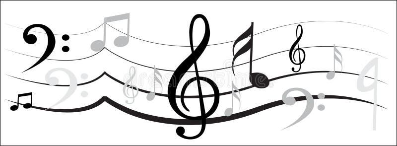 Musikanmärkningsdesign royaltyfri illustrationer