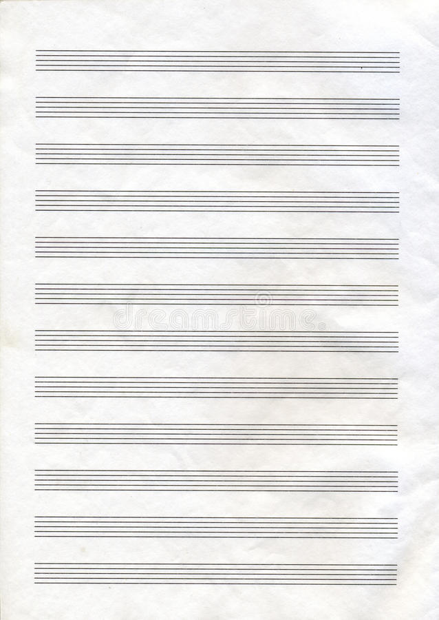 musikanmärkningspapper royaltyfri bild