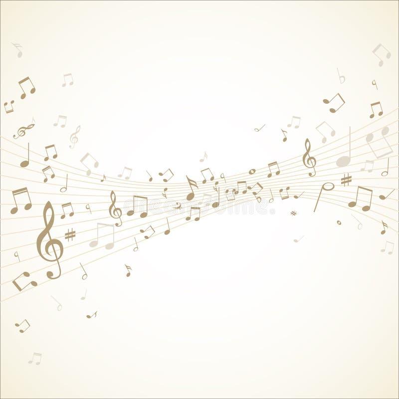 Musikanmerkungen über Daube vektor abbildung