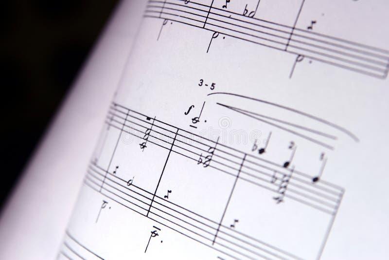 Musikanmerkungen stockfoto