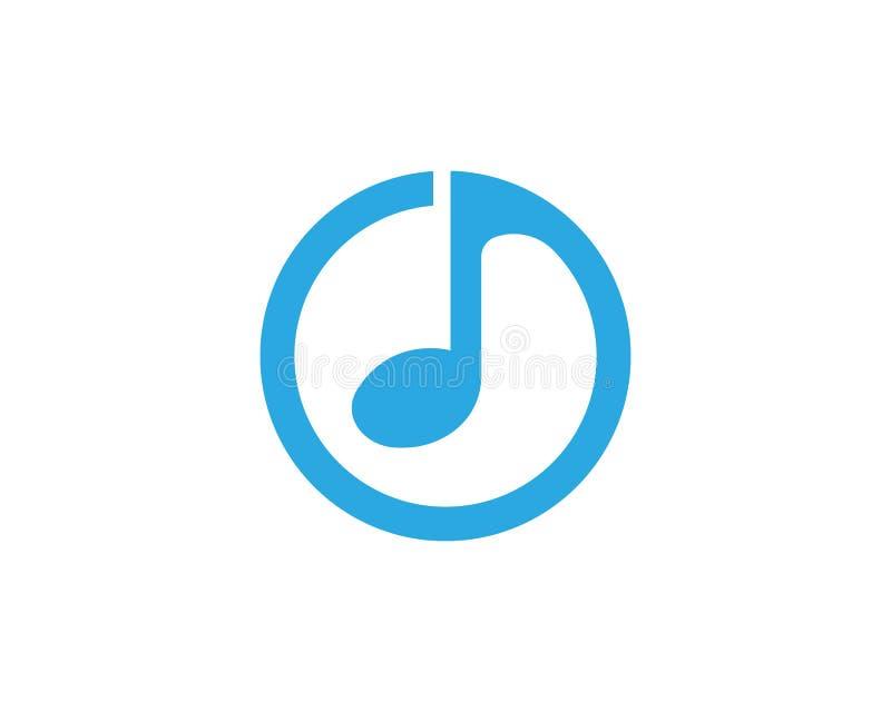 Musikanmerkungs-Ikonenvektor lizenzfreie abbildung