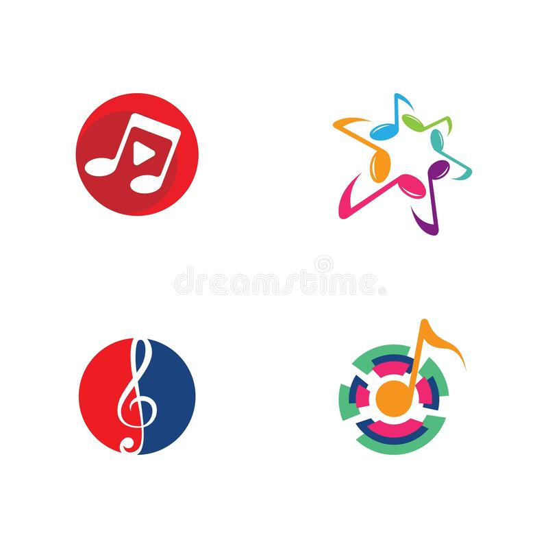 Musikanmerkungs-Logovektor lizenzfreie abbildung