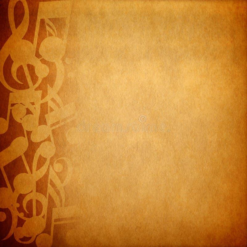 Musikanmerkungshintergrund lizenzfreie stockfotos