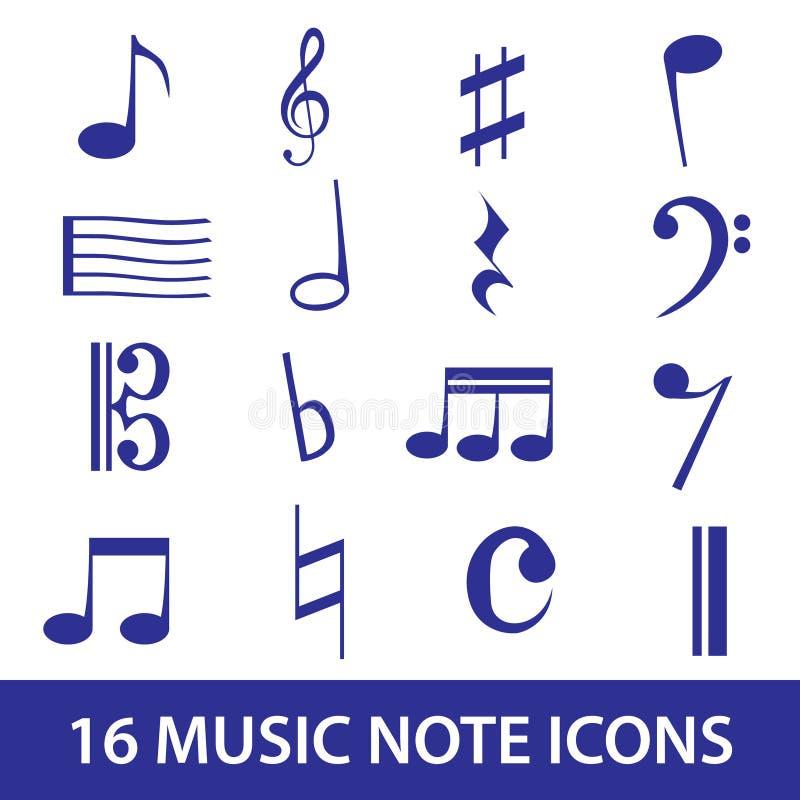 Musikanmerkungsikone Gesetztes Eps10 Stockbilder