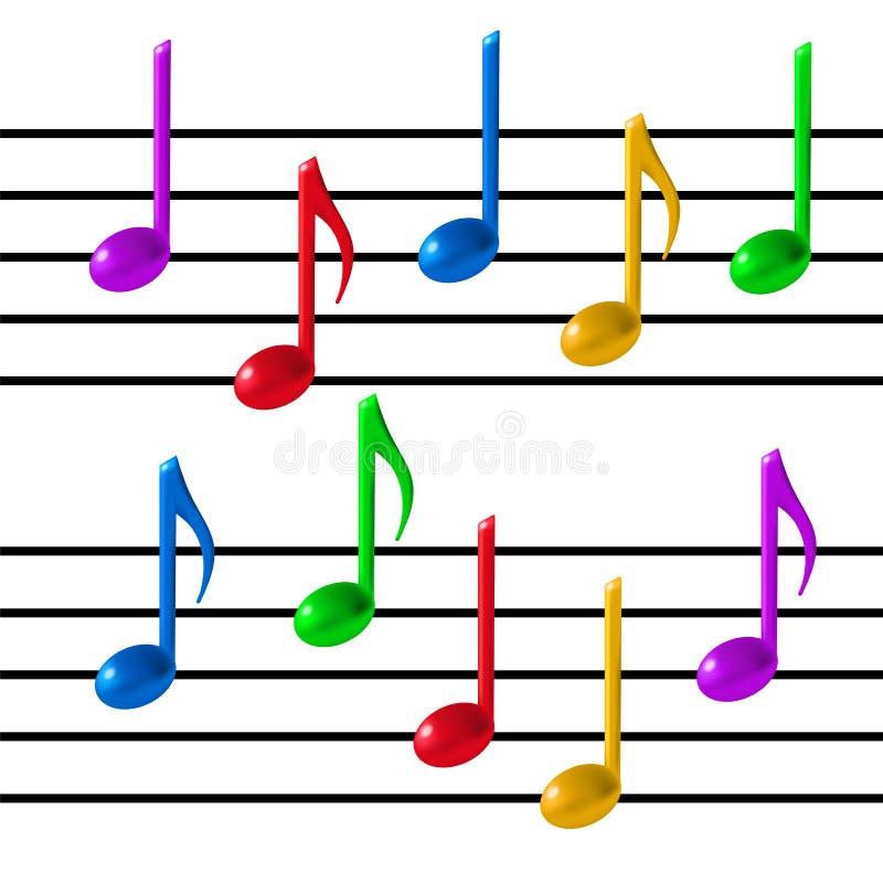 Musikanmerkungsvektor vektor abbildung