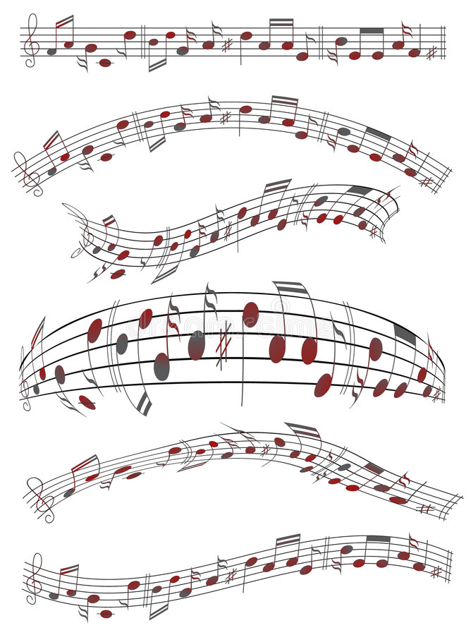 musikark stock illustrationer