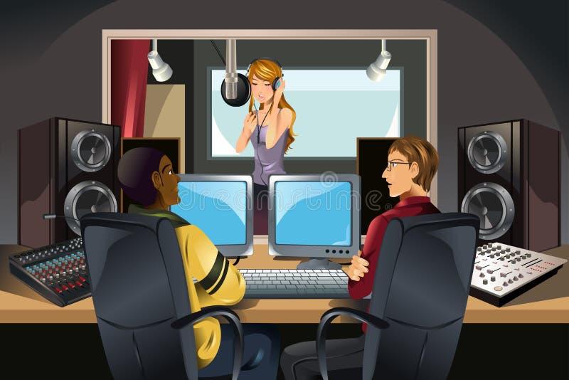 Musikaufnahmestudio stock abbildung