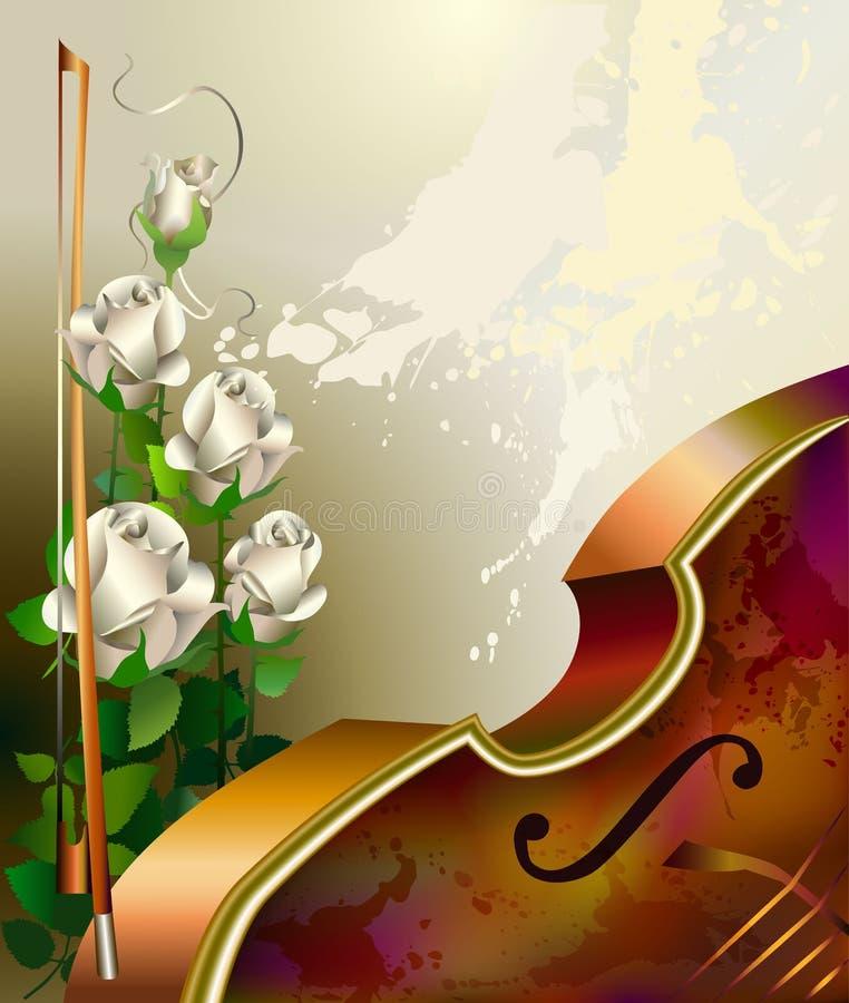 Musikbakgrund med fiolen vektor illustrationer