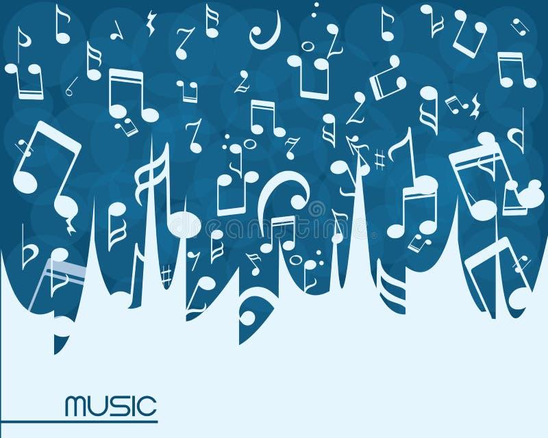musikbakgrundsillustration stock illustrationer