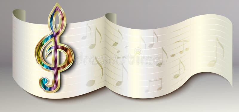 Musikbaner stock illustrationer