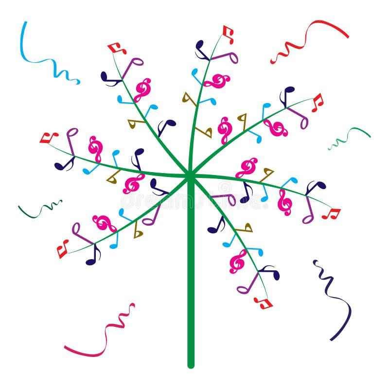 Musikbaum stock abbildung