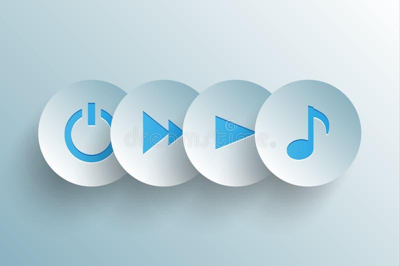 Musikbegrepp royaltyfri illustrationer