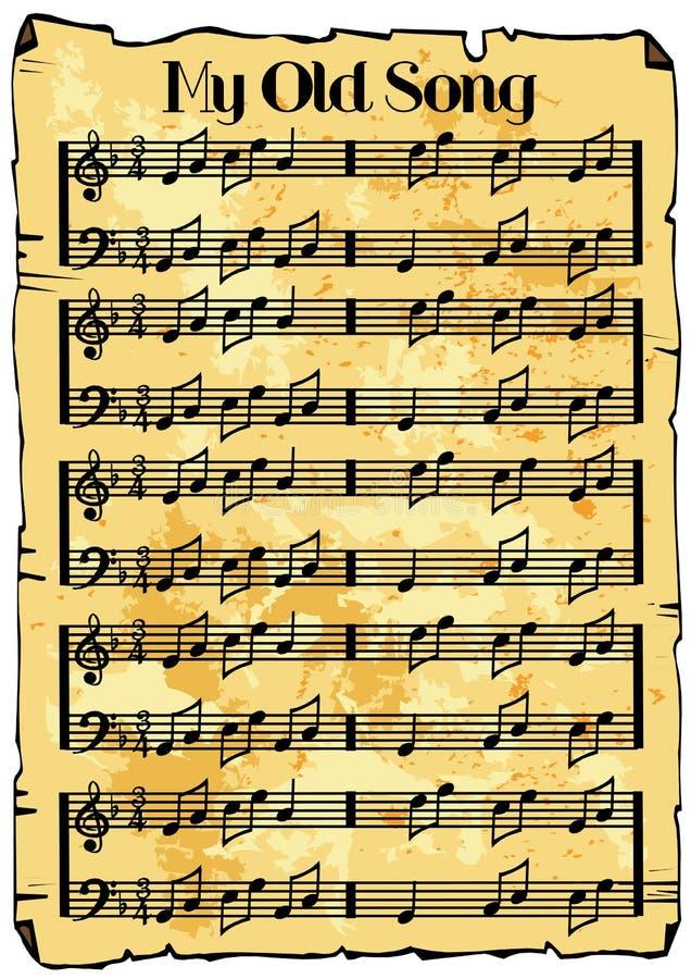 Musikblathintergrund stock abbildung