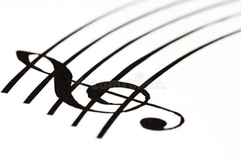 Musikblatt lizenzfreies stockfoto
