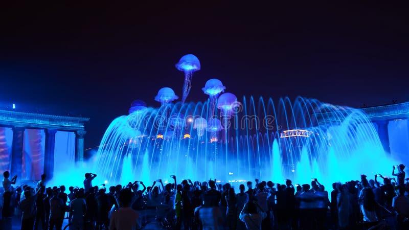 Musikbrunnen stockbild