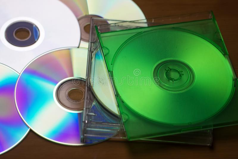 MusikCD- eller DVD-fall, Copyspace område för musikal royaltyfria foton