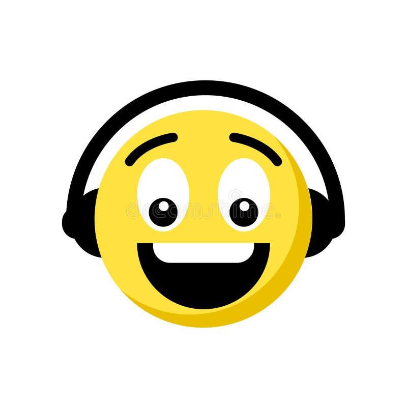 Musikemojisymbol som isoleras på vit bakgrund stock illustrationer