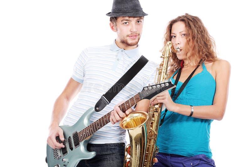 Musiker stockfotografie