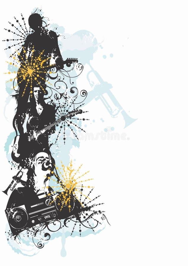 musiker stock illustrationer