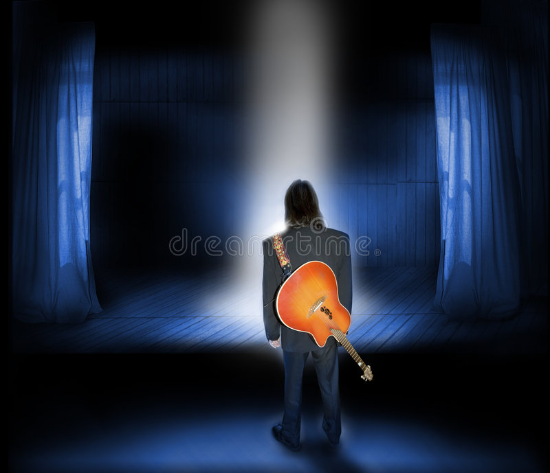 musiker royaltyfri bild