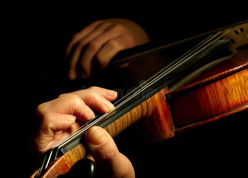 Musiker, der Violine spielt stockbilder