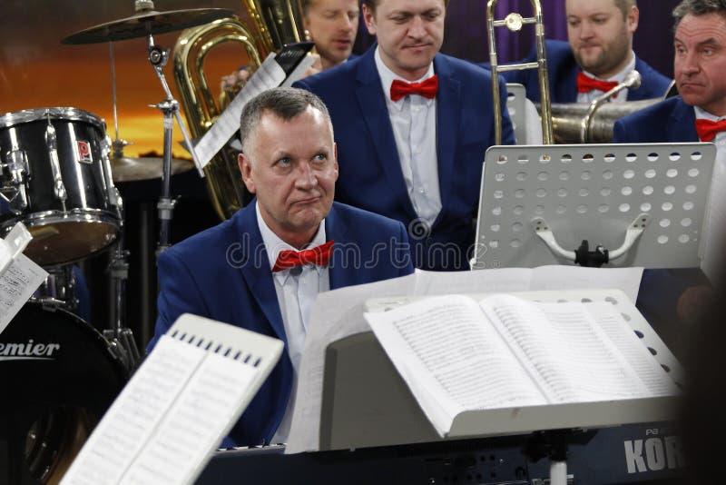 Musiker im Orchester lizenzfreies stockbild