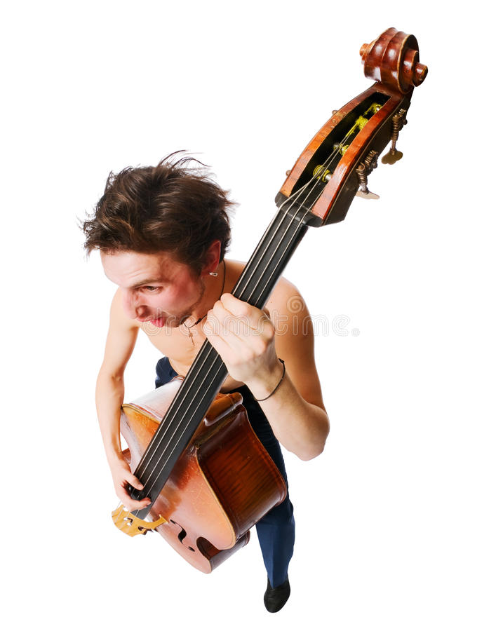Musiker mit Cello lizenzfreies stockbild