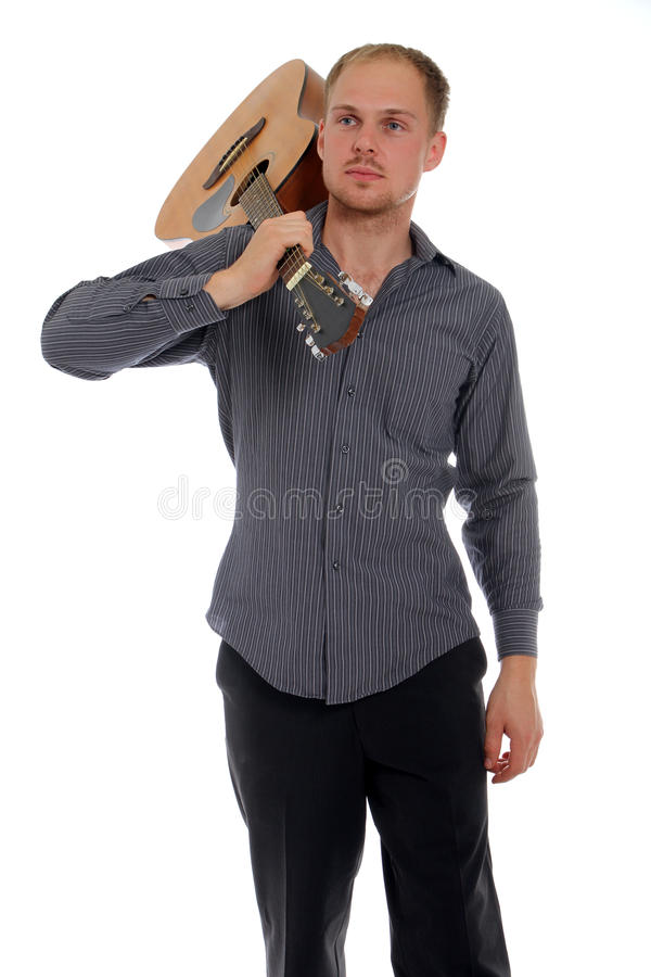 Musiker mit der Gitarre lizenzfreies stockbild
