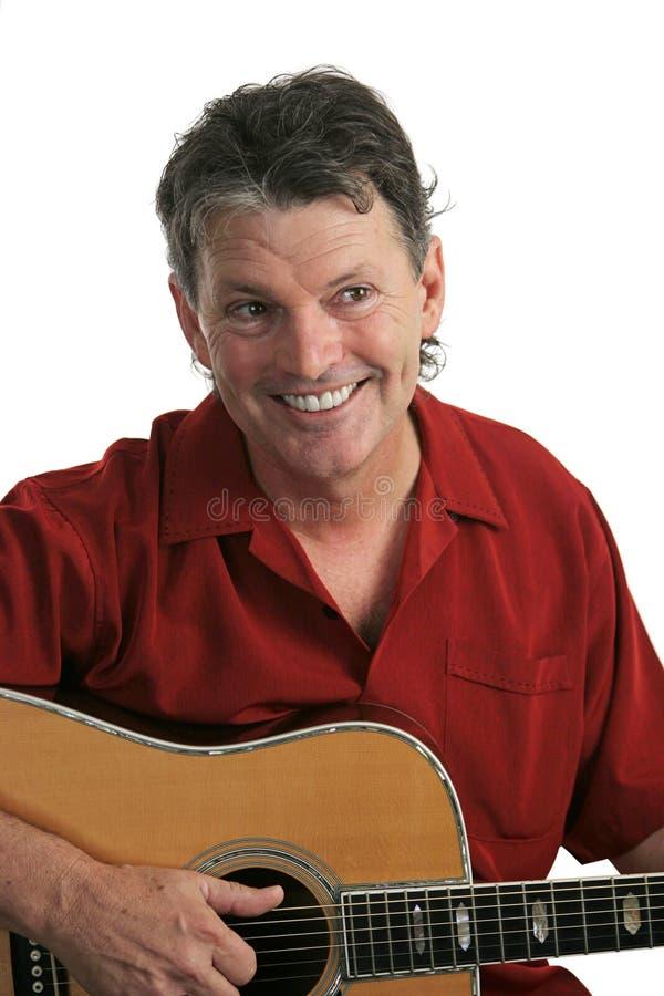 Musiker mit Gitarre lizenzfreie stockbilder