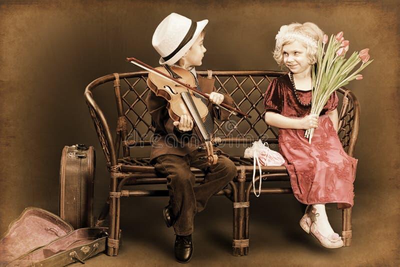 Musiker Romance lizenzfreie stockbilder