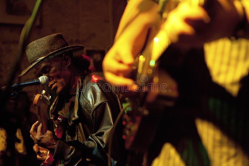 Musiker som utför, Mississippi arkivbild