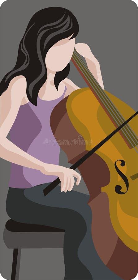 Musikerabbildungserie lizenzfreie abbildung