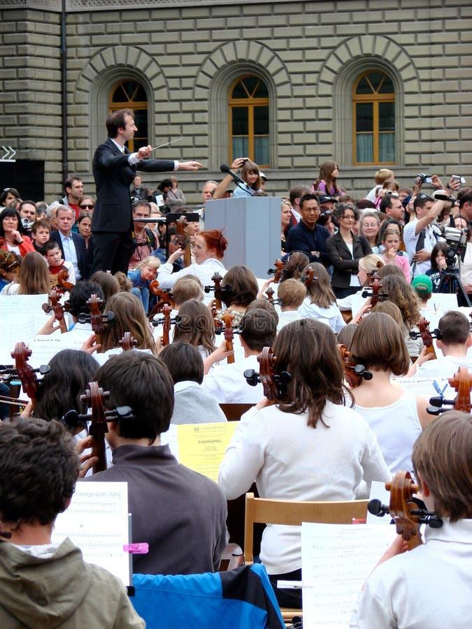 Musikereignis: sternspiel in den Brustbeeren lizenzfreie stockfotos