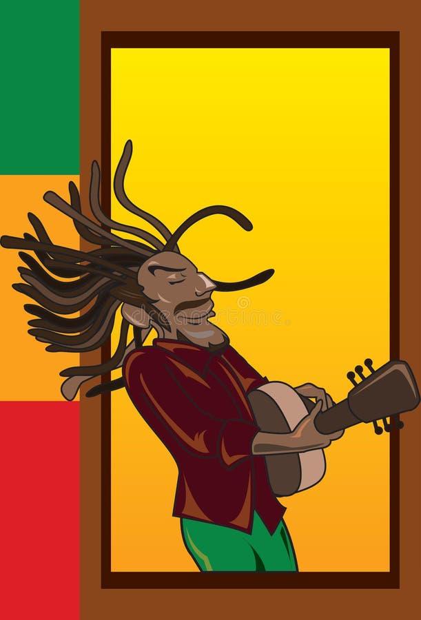 musikerreggae royaltyfri illustrationer