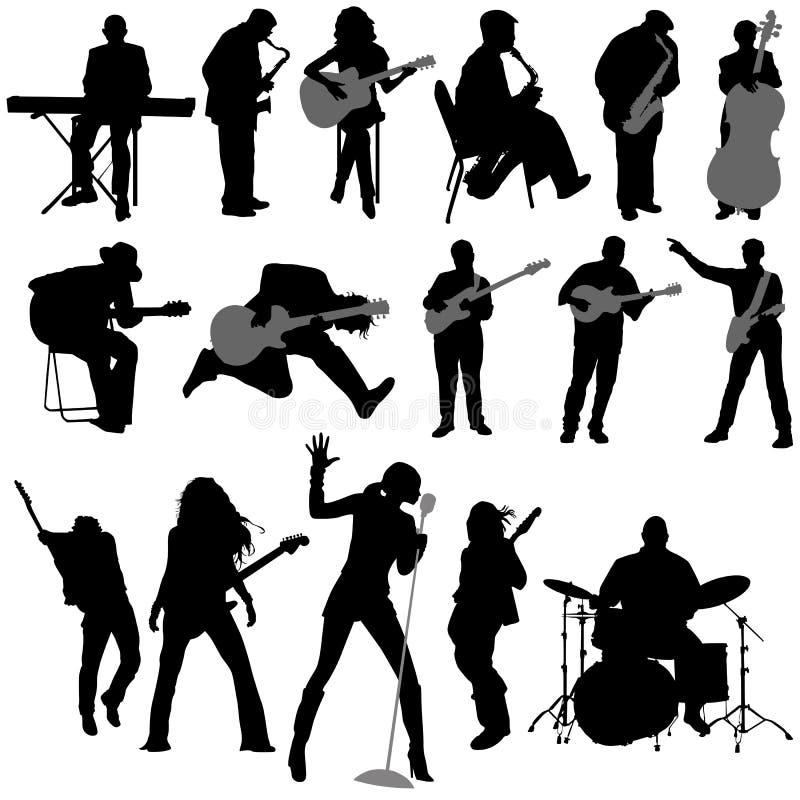 musikervektor royaltyfri illustrationer