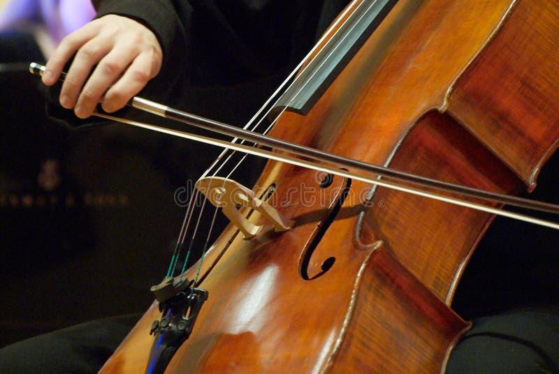 musikervioloncello arkivfoton