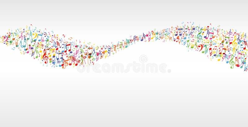 Musikfärgvåg stock illustrationer