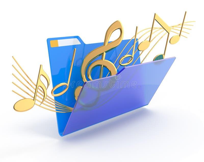 Musikfaltblatt. stock abbildung