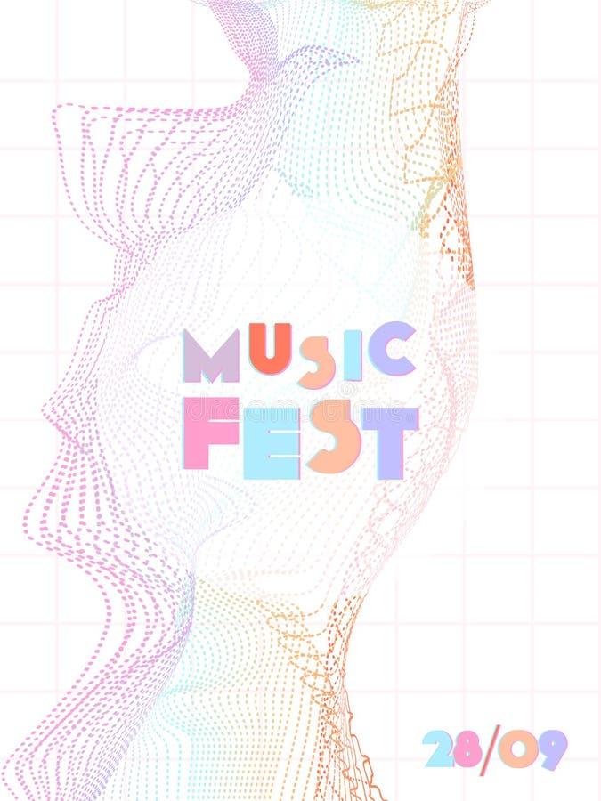 Musikfestival-Abdeckungshintergrund vektor abbildung