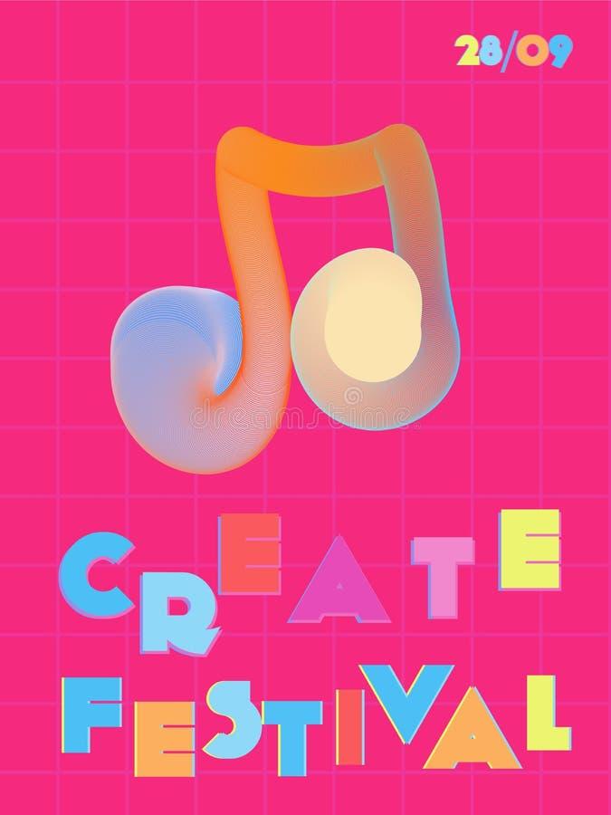 Musikfestival-Abdeckungshintergrund stock abbildung