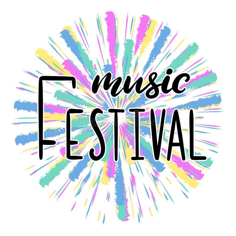 Musikfestival som märker vektorillustrationen royaltyfri illustrationer