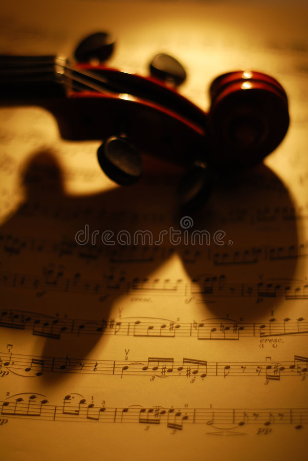 musikfiol royaltyfri foto