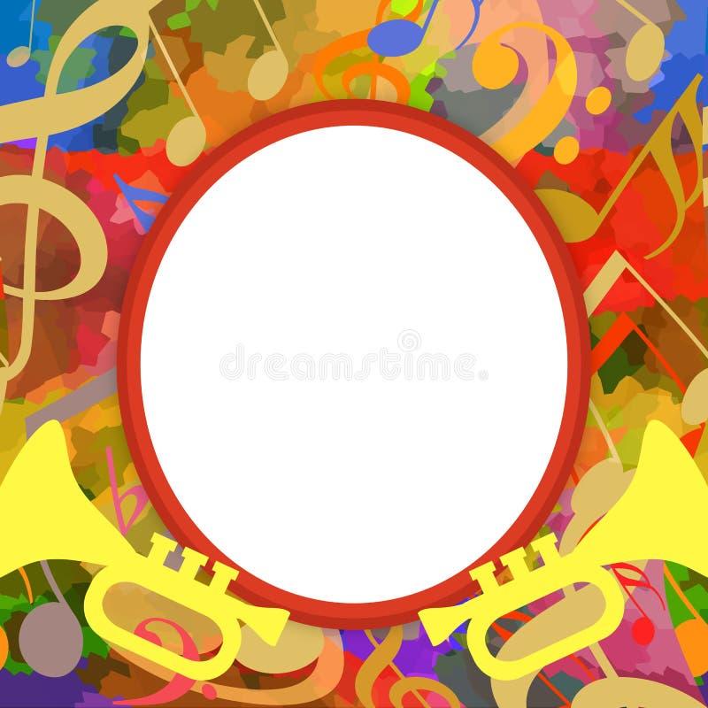 Musikfotoram stock illustrationer