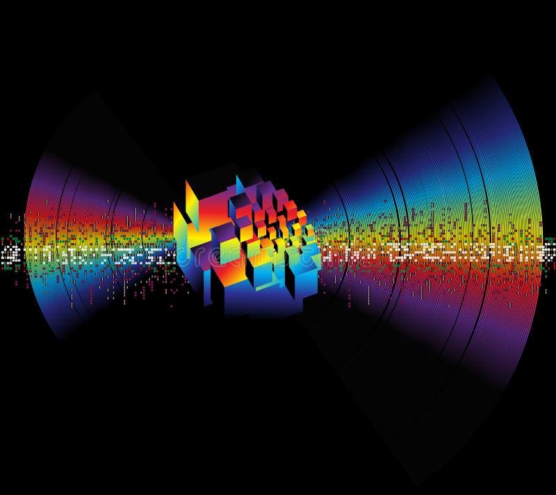Musikfrequenz. vektor abbildung