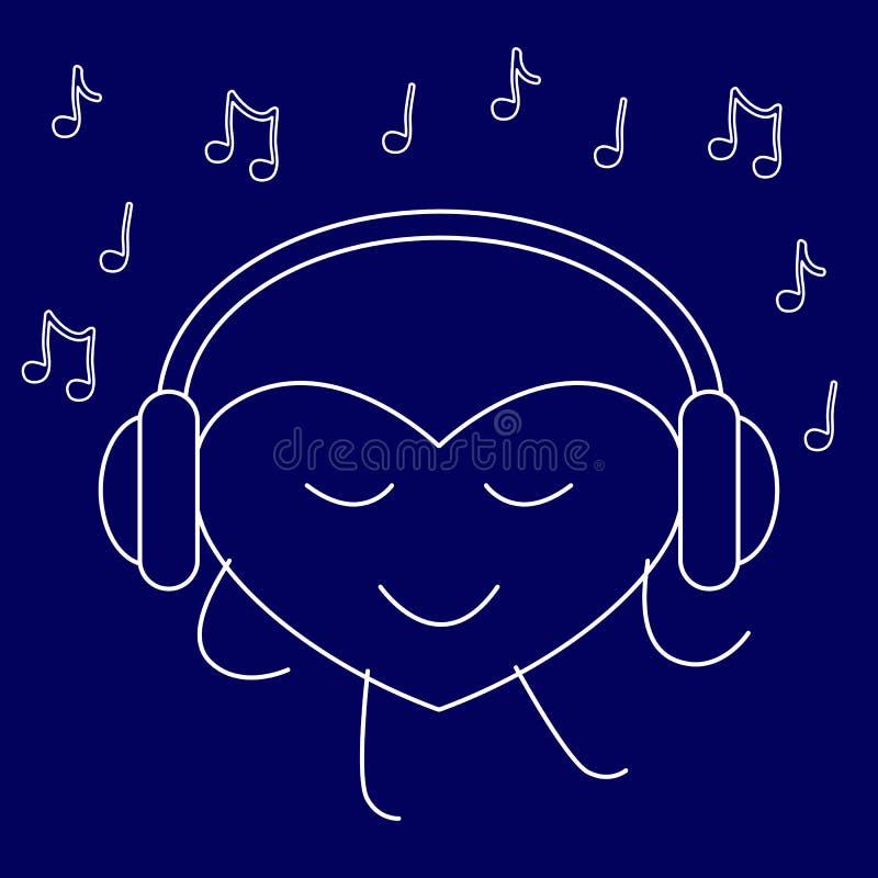 Musikfreund lizenzfreie abbildung